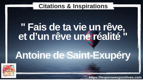 Citation de Saint Exupéry