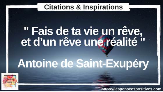 Citation de Saint Exupéry